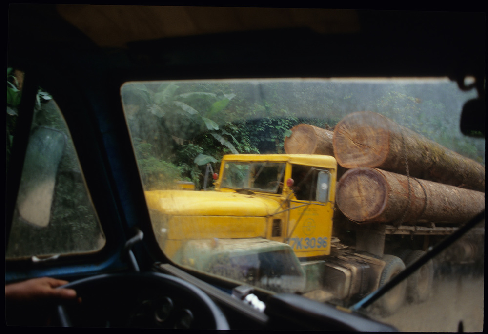Logging truck heading from Laos into Vietnam.