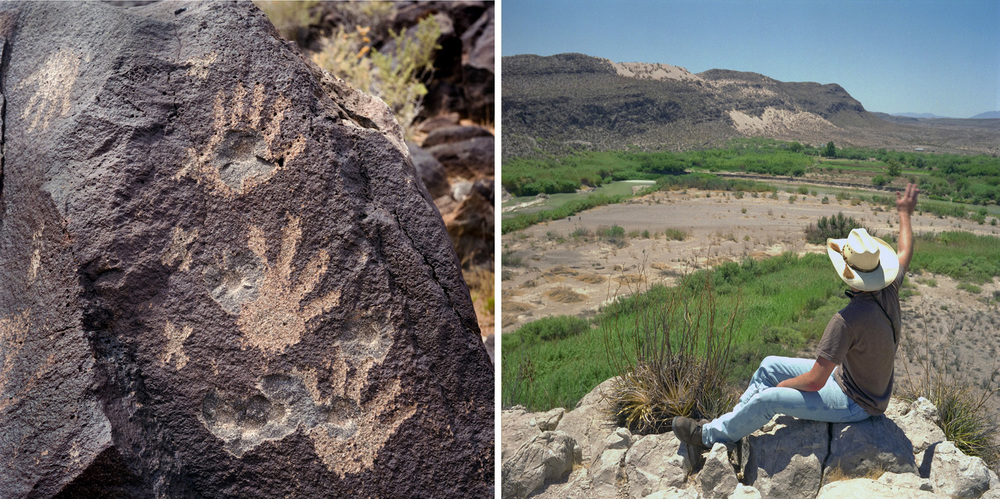 Petroglyph National Monument, NM, and Big Bend, TX.