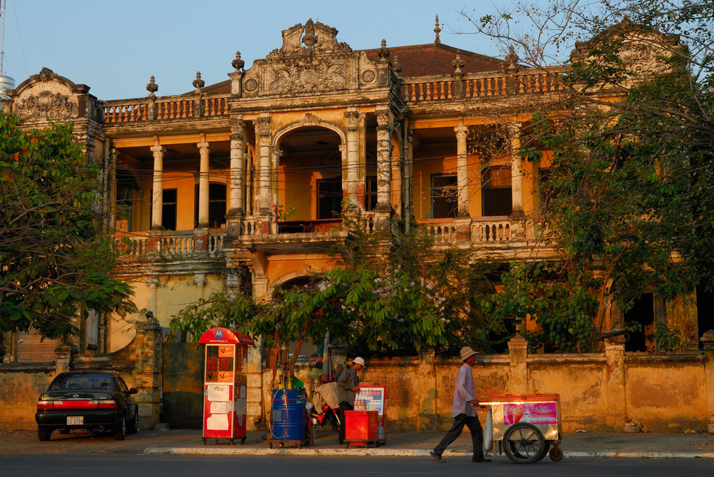 Abandoned colonial mansion, Phnom Penh