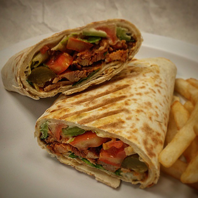 Hungry? Have a chicken shawarma wrap!  #shawarma #kebab #kabab #losangeles #mediterranean #middleeast #hummus #healthy #wrap #sandwich #chicken #restaurant #food #delicious #tasty #chickenshawarma #kabob
