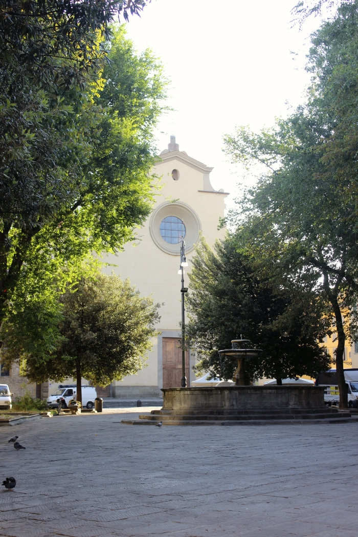 The Santo Spirito Church in the Piazza Santo Spirito, Florence, Italy