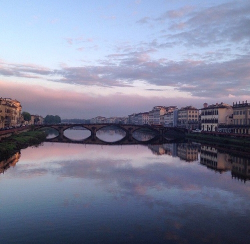 Early morning walks along the Arno