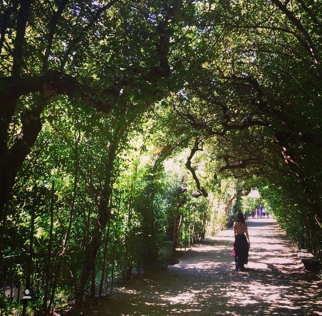 Strolling through the Boboli Gardens in Florence, Italy