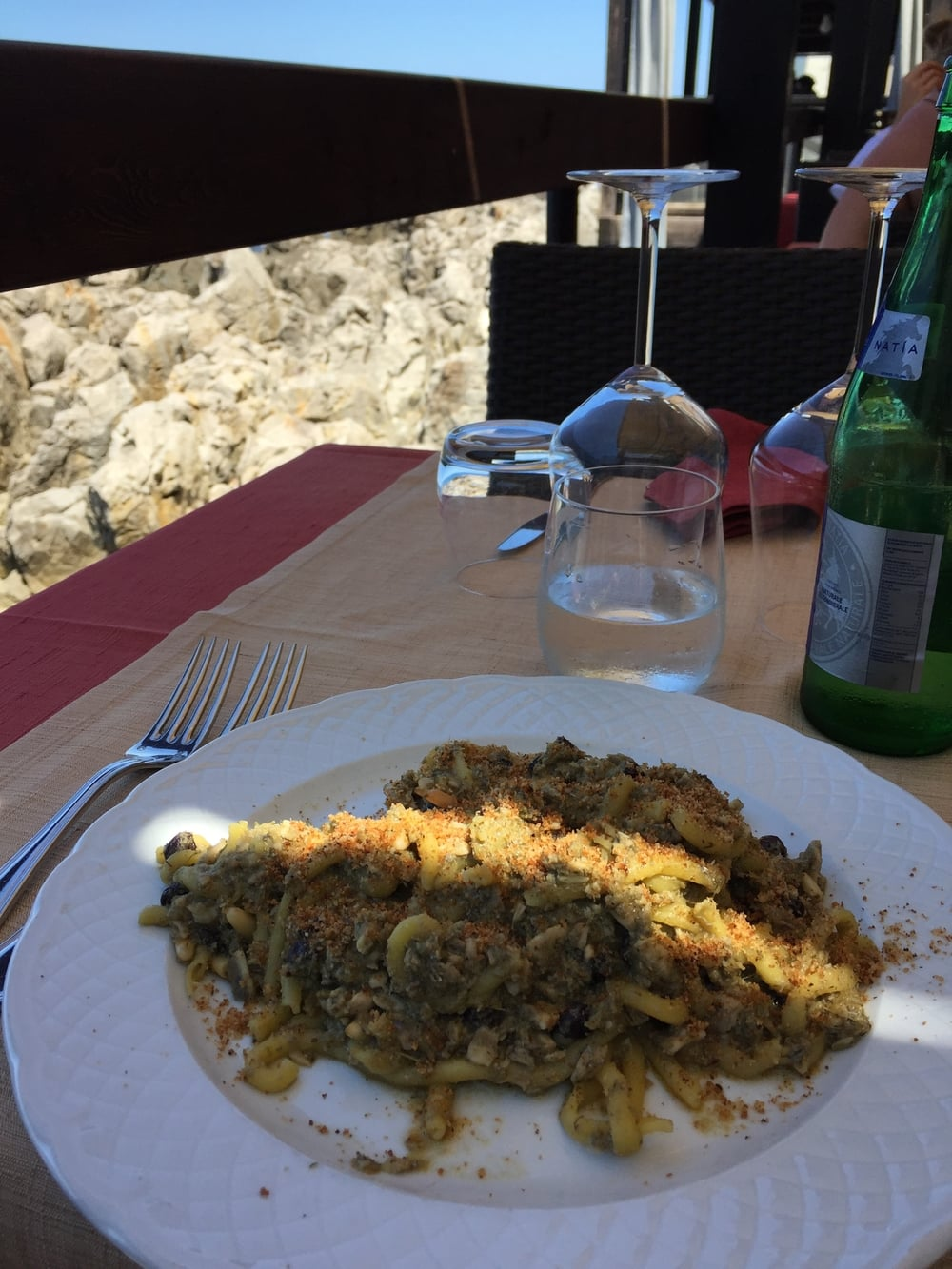 PHOTO COURTESY OF TRAVEL ITALIAN STYLE (IT'S NOT SPAGHETTI BUT IT IS PASTA CON SARDE IN SICILY..YUM)!
