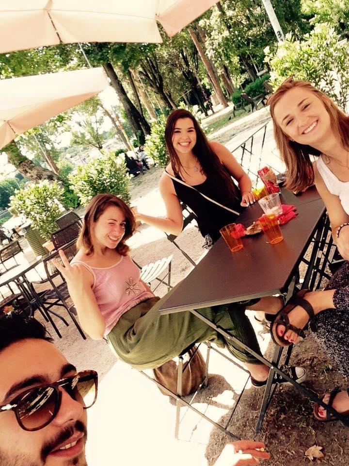 enjoying la dolce vita with my new italian family