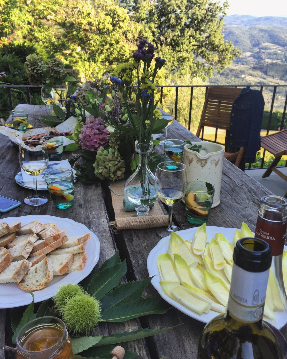 Simple Apertivo with Endives, fresh local Honey and Pecorino Cheese made by Emiko Davis | Photo by Cassandra santoro