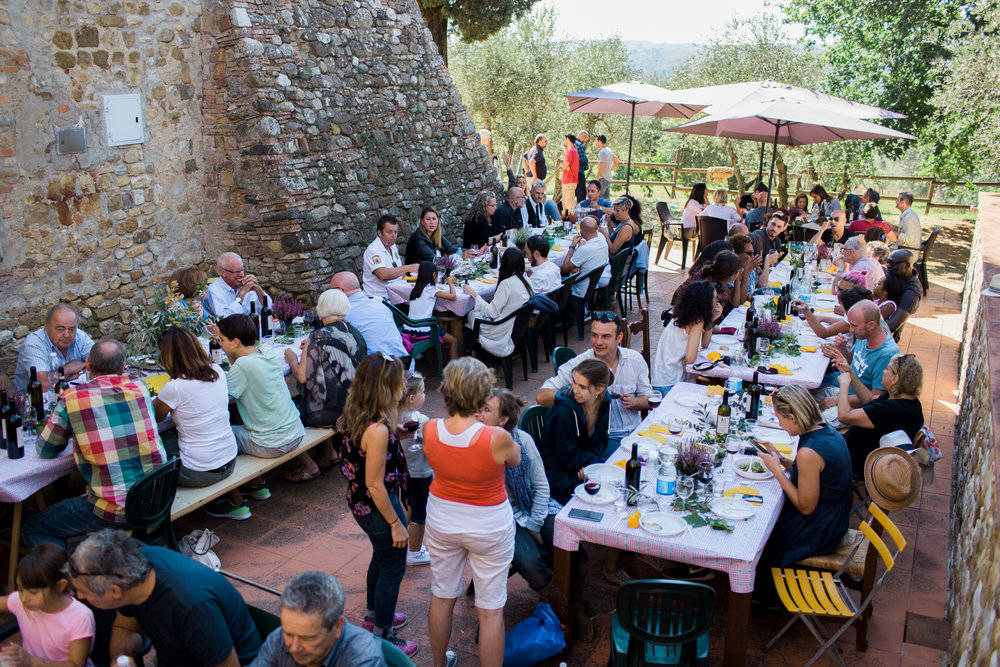 Wine Harvest Event in Tuscany, there were clients from all over the world dining with Local Tuscan Farmers after participating in Wine Harvest and Stomping Grapes! Photos by Kelsey Sagen Photography.jpg