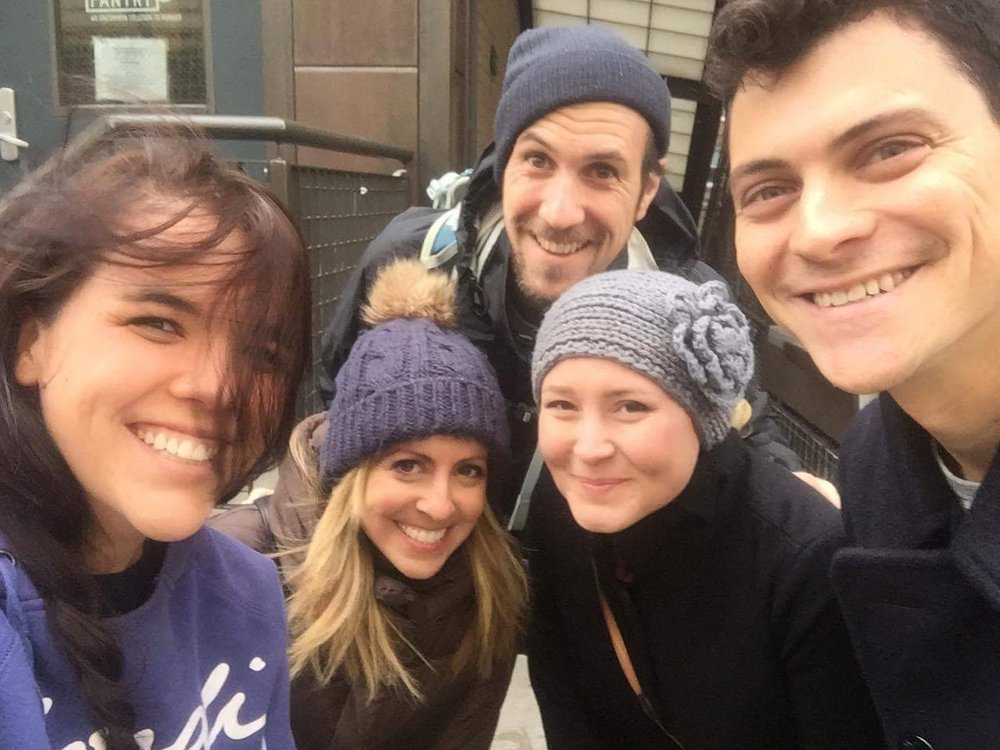 Travel Italian Style Founder, Cassandra with the team at FLYTE helping out at a local soup kitchen in NYC during the holidays.