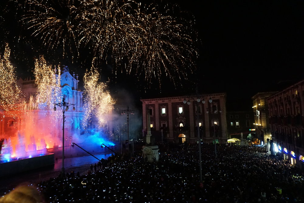 The 4 February Firework presentation from the City Hall Balcony. PICTURE BY TRAVEL ITALIAN STYLE