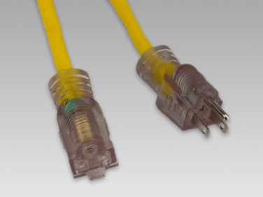 Lighted Ends Extension Cords