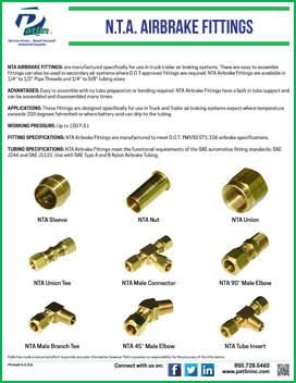 N.T.A. Airbrake Fittings