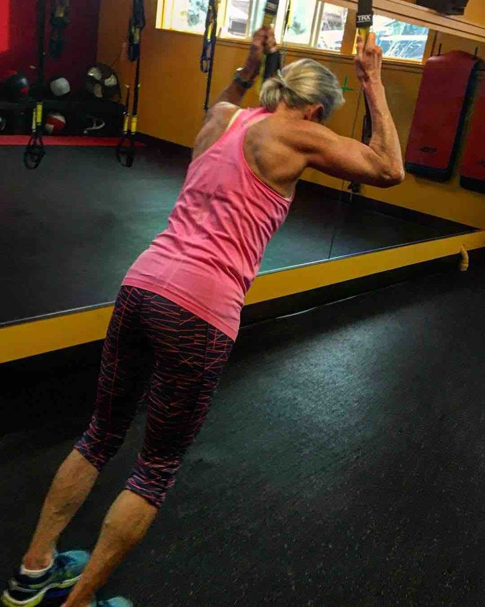 Sue Engelmann — 58 years old - I honestly don't know how I would get through my day without the energy and strength I get from HardCore Training. My workouts allow me to stay focused longer at work, and feel stronger when I'm out hiking and skiing. The two or three HardCore workouts per week are extremely effective, fun, and targeted to work every muscle group as well as keeping my bone density levels off the charts. Signing up means I show up, which is the bigger issue for me. When I feel strong and t, I am ready for whatever the day throws my way!