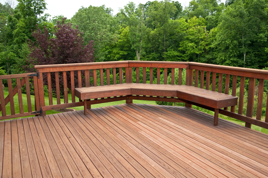 Quick rule of thumb: in Minnesota it's a good idea to do a maintenance coat on your deck at least one time every three years.