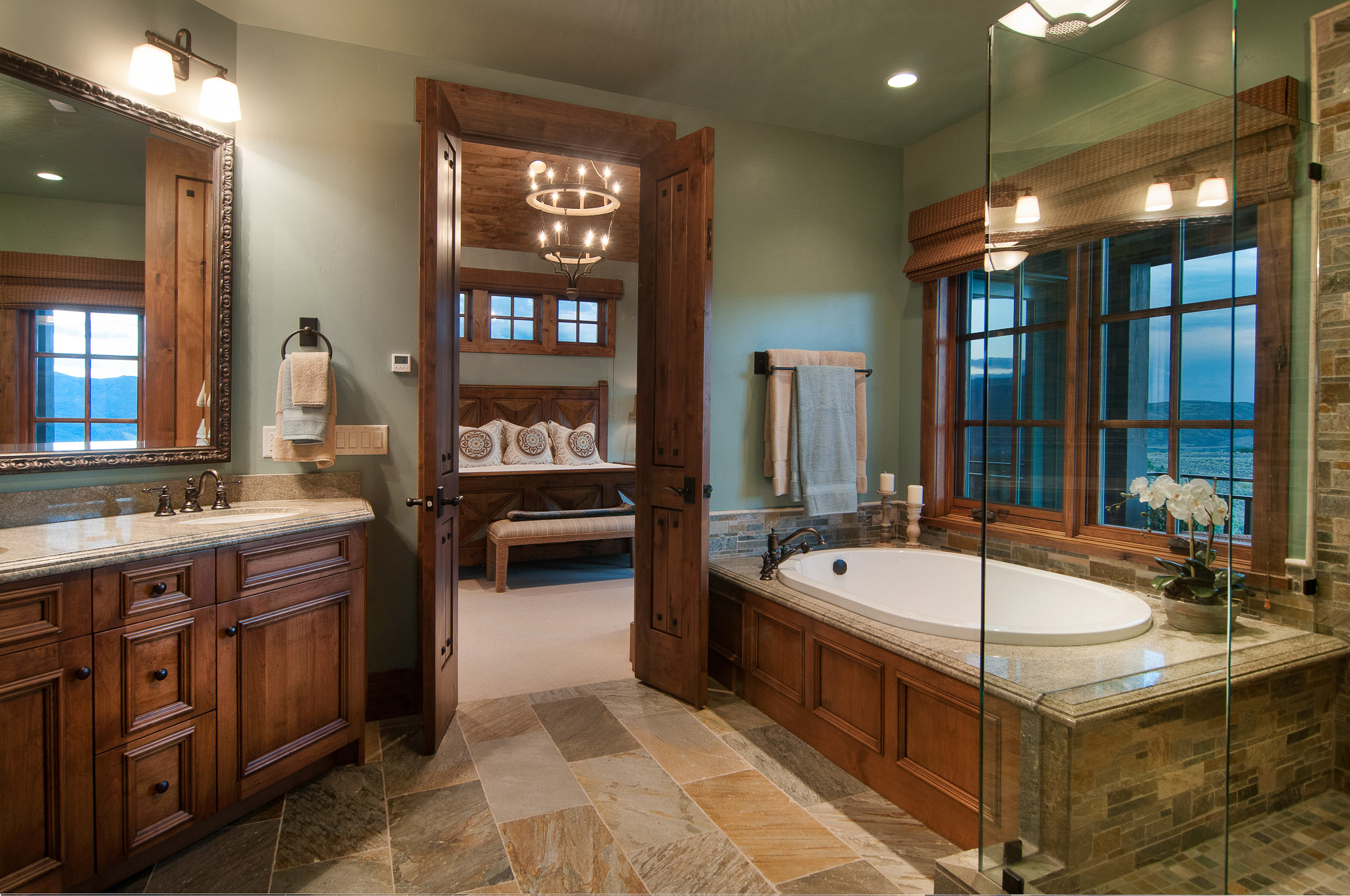 Master Bathroom by Cameo Homes Inc.