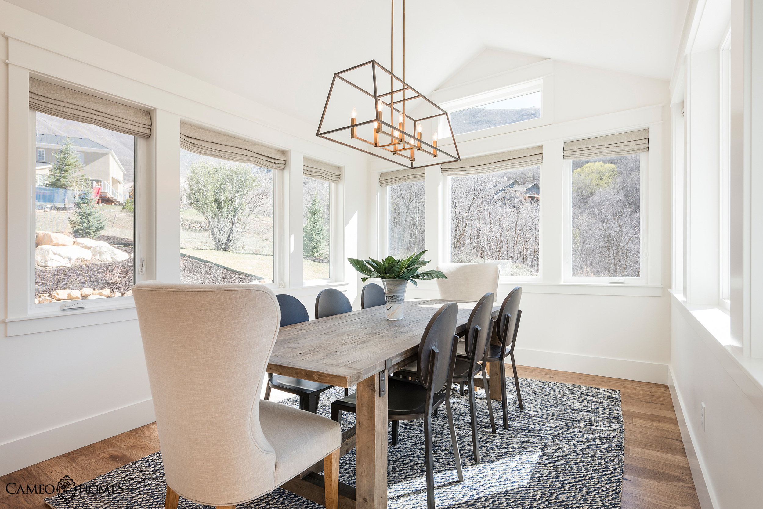 Dining Room by Cameo Homes, Inc. in Utah.