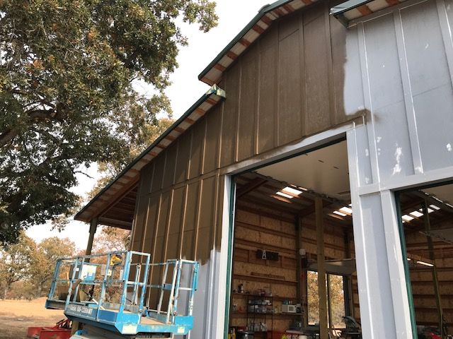 Without Agnes (Our Scissor Lift) we would have never gotten our Barn done! Steve is also a Painting Contractor that helps as well.