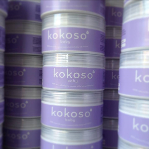 Kokoso coconut oil for baby skin
