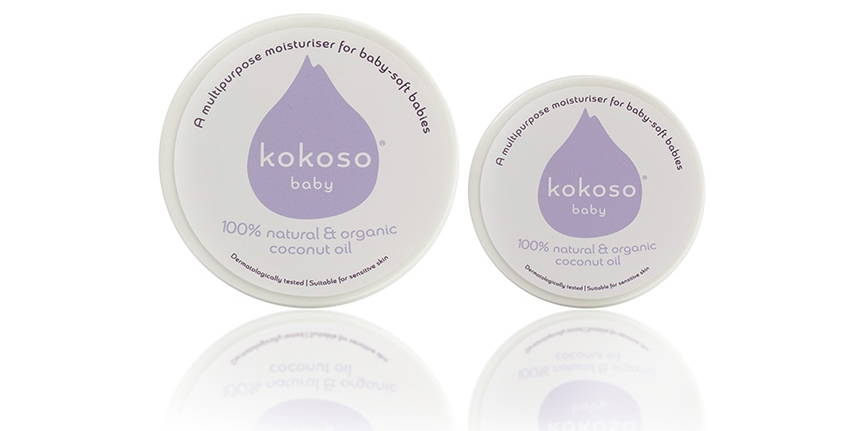 Kokoso Baby Coconut Oil is available in two convenient sizes, for home and on-the-go.
