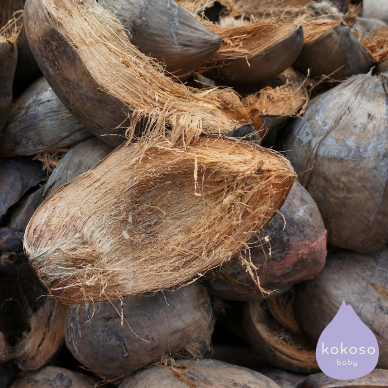 The husks from Kokoso Baby's coconuts are never wasted!