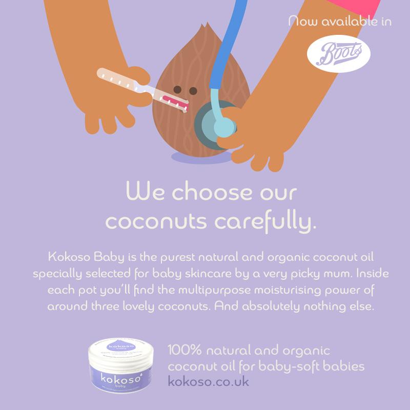 Kokoso Baby Coconut Oil for baby skin