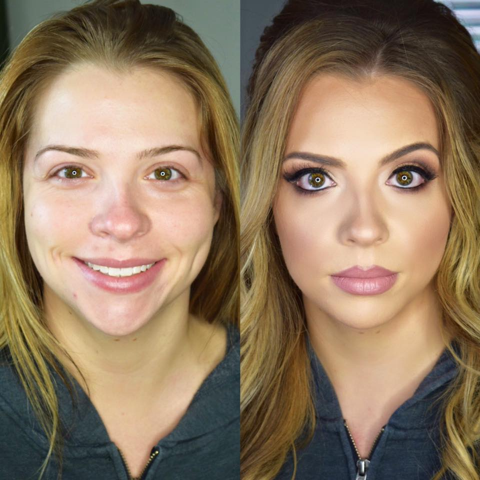 before and after — pittsburgh makeup artist and hair stylist