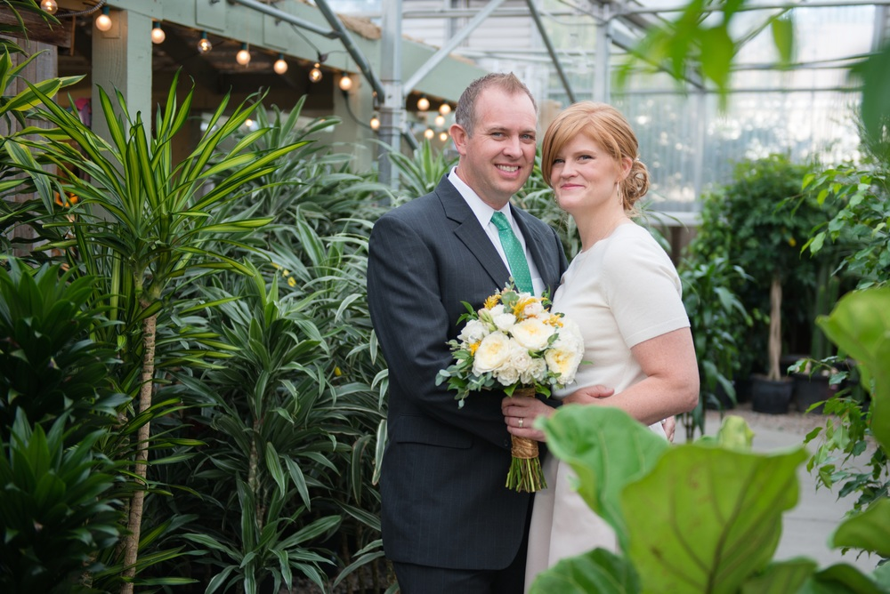 Brad and Adrienne Johnson taking a lovers stroll through our greenhouse which is beautiful year round.........
