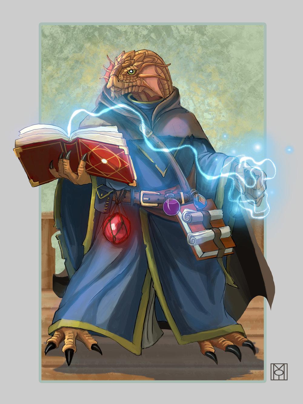 Dragonborn Wizard - Enchanter