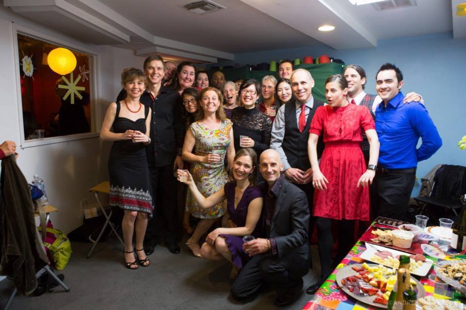 Teams, Coaches, and Partners after a happy recital - Winter 2014