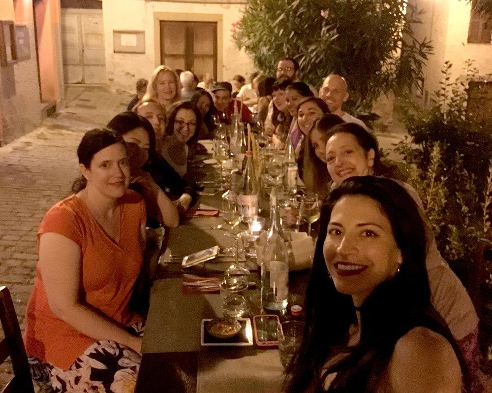 dinner in medieval Jesi
