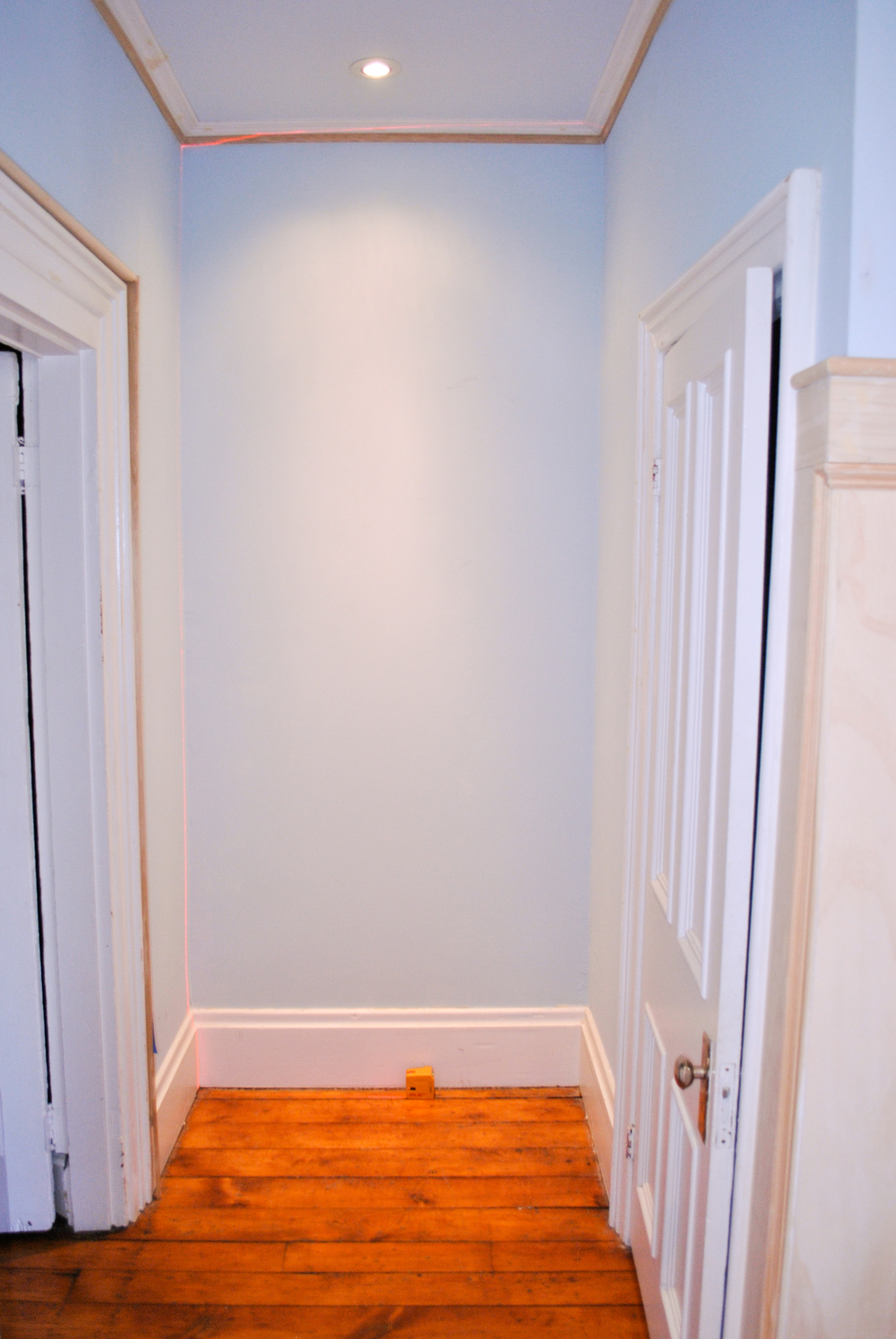 Client wanted a closet unit in this space for more storage.
