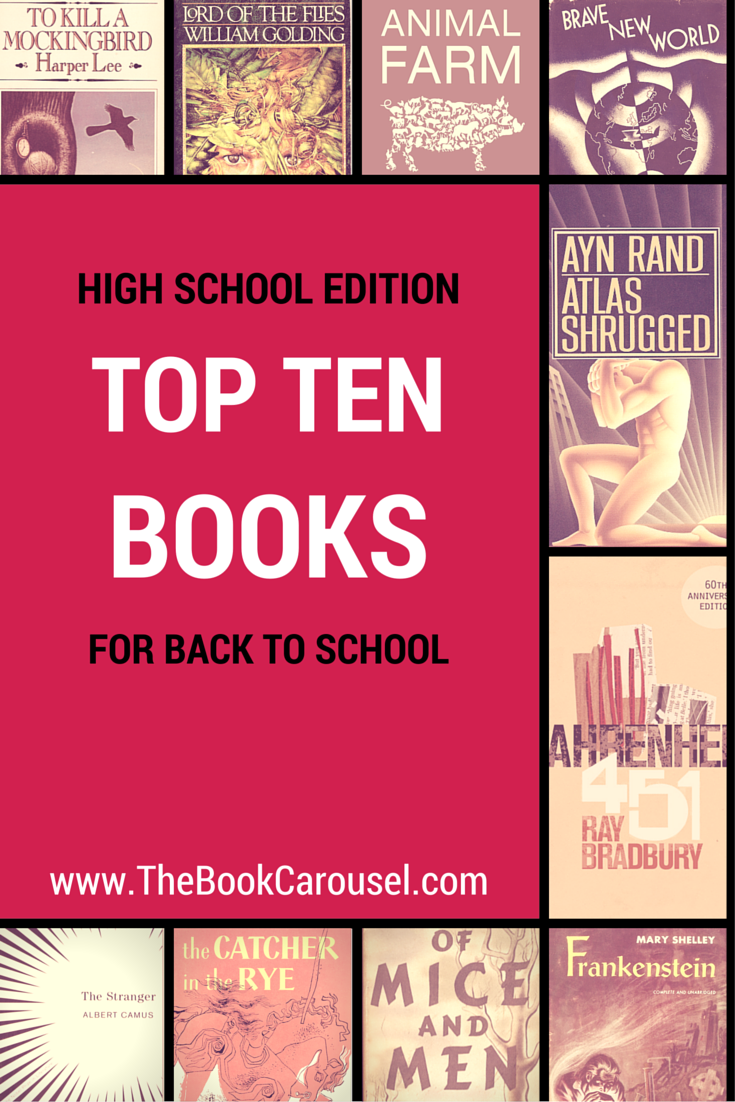 Top 10 Books To Read For Back To School High School Edition The