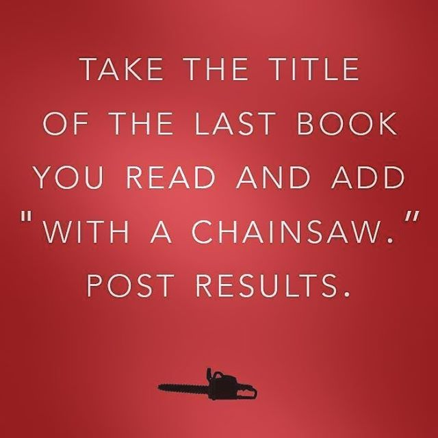 What are you reading (with a chainsaw)? #bookfun #TheBookCarousel #watershipdownwithachainsaw