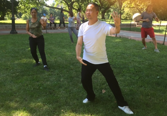 Weekly Tai Chi workshops were led by two instructors on Monument Greene.