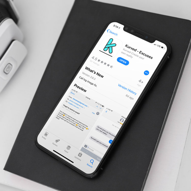 Kurved, App Logo Design