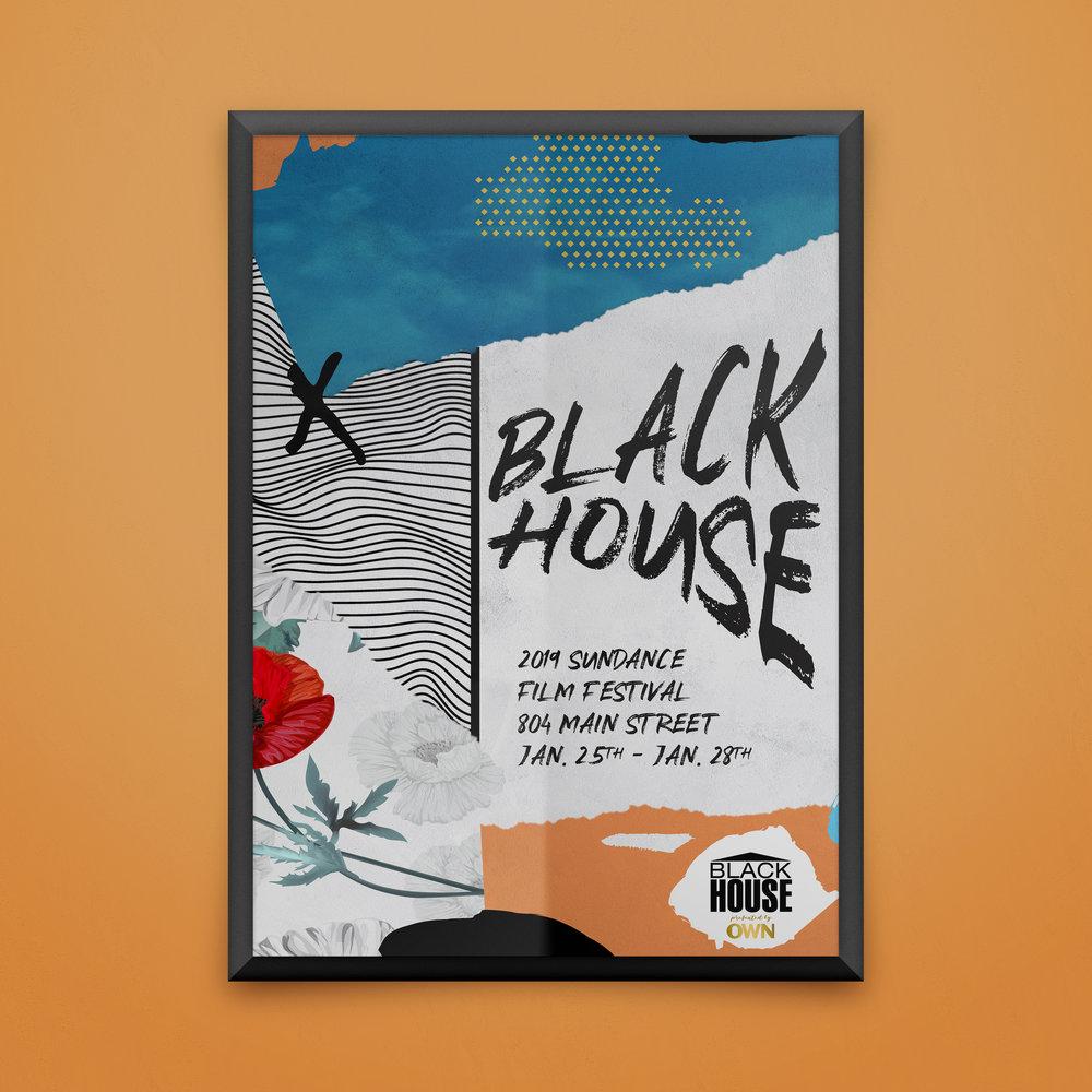 Event Poster Design, The Black House, Sundance Film Festival