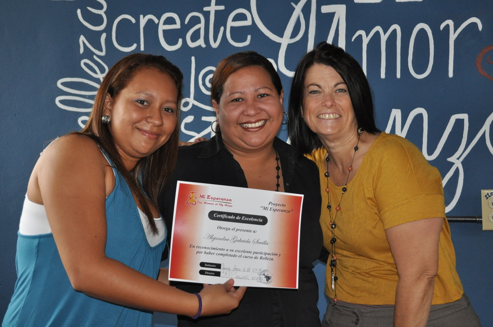 graduation day 2012 with instructor Paola and co-founder Lori Connell