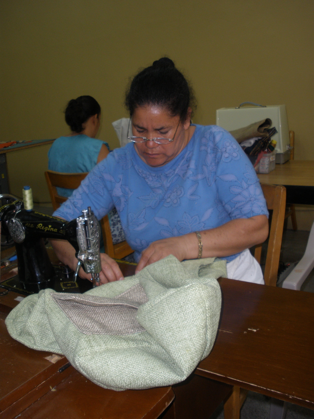 Working on a Mi Esperanza Dharma bag 2010