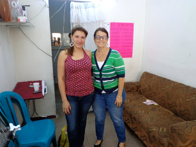 Co Founder Lori Connell and Karen during our 2013 visit.