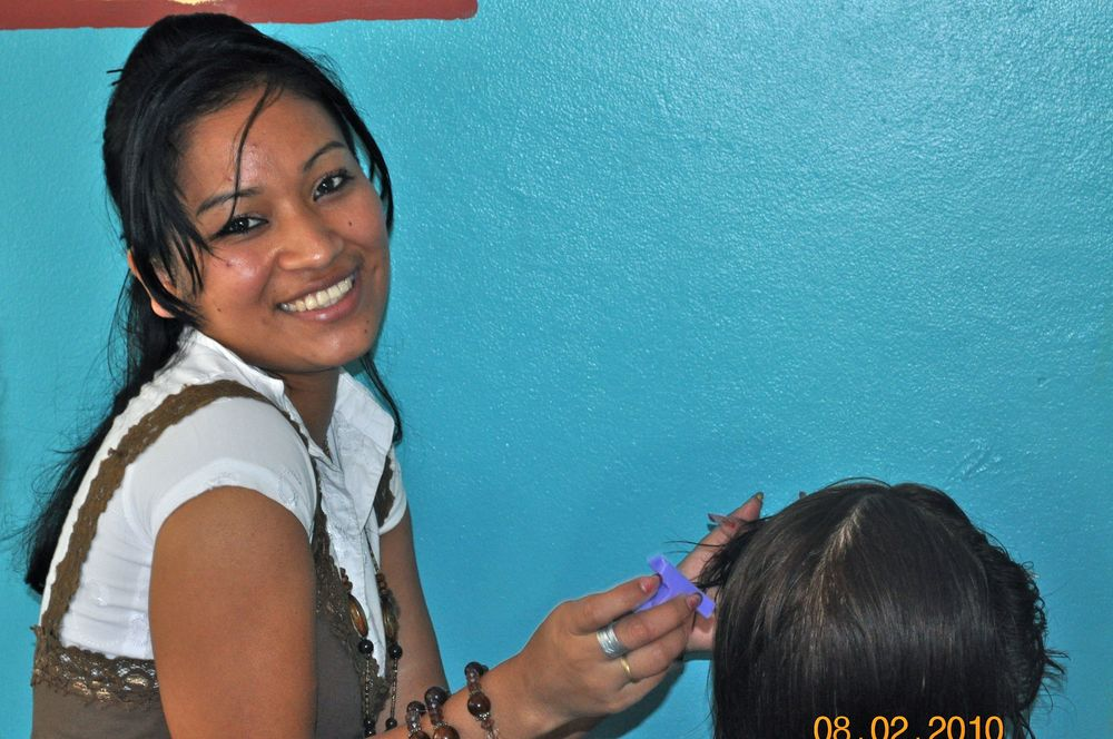 Our favorite photo of Karla during class @ Mi Esperanza