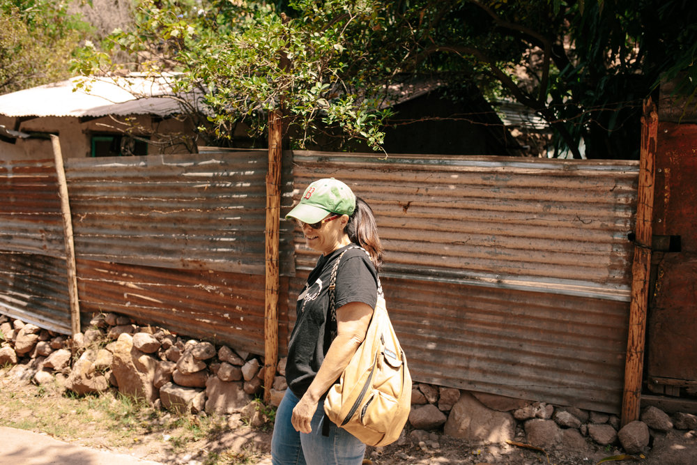 Lori on a site visit 2016