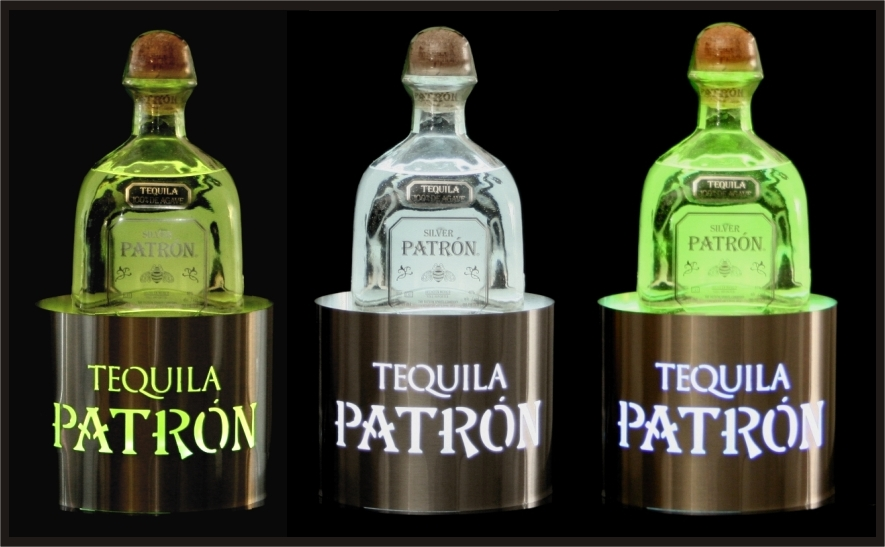 Patron Bottle Glorifiers Round Stainless Steel Set of 3.jpg