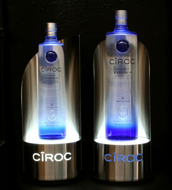 Ciroc Bottle Glorifiers Stainless Steel w ss Backings.jpg