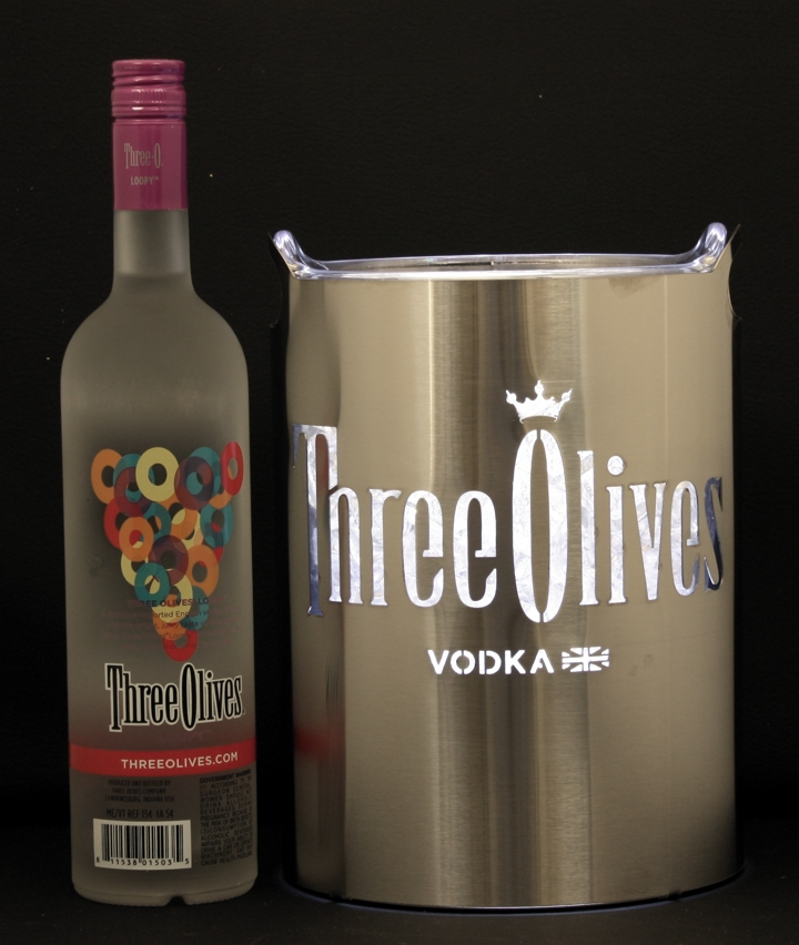 Three Olives LED Ice Bucket Wrap Stainless Steel.jpg
