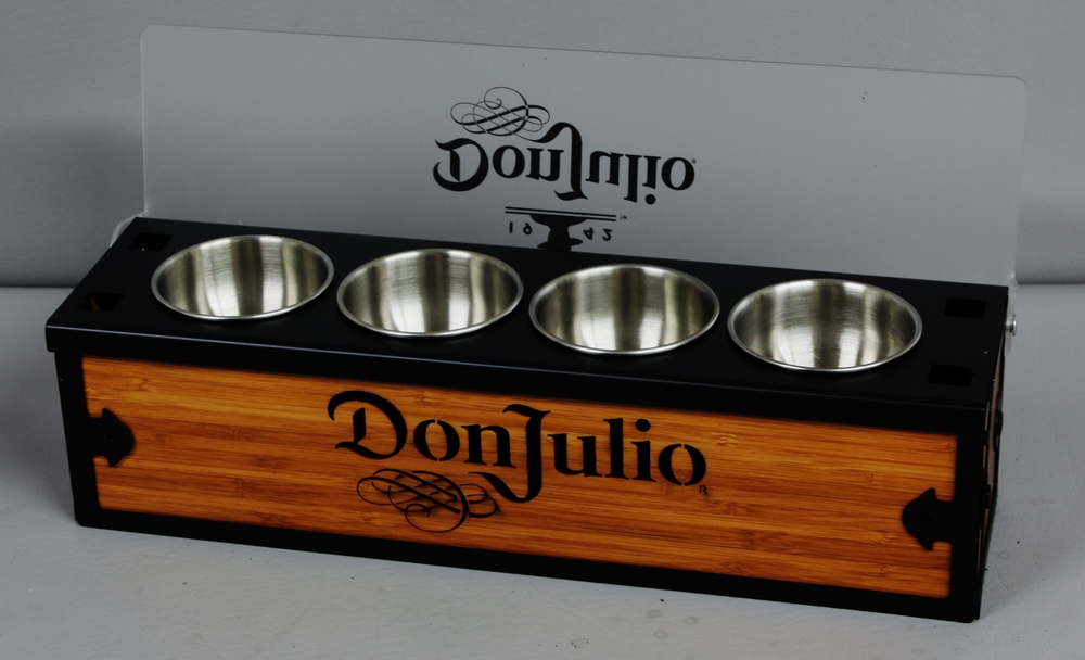Don Julio Condiment Tray Steel n Wood Open.JPG