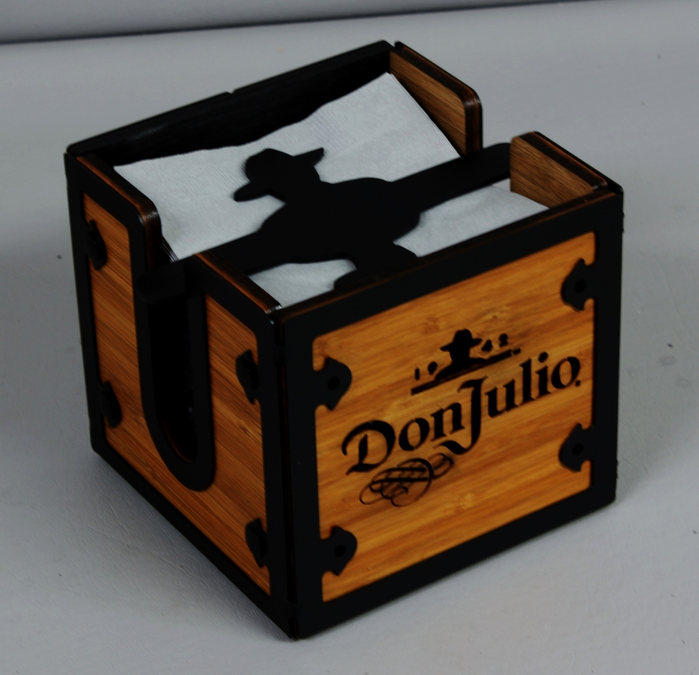 Don Julio Napkin Holder Steel n Wood.JPG