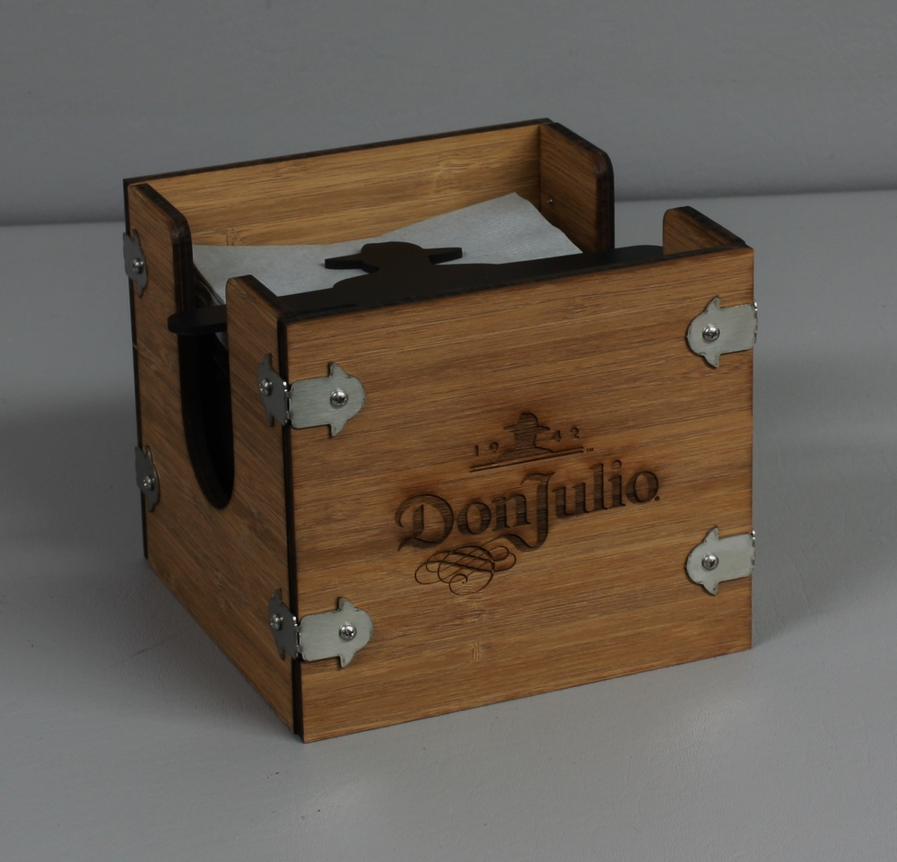 Don Julio Napkin Holder Wood Laser Etched.JPG