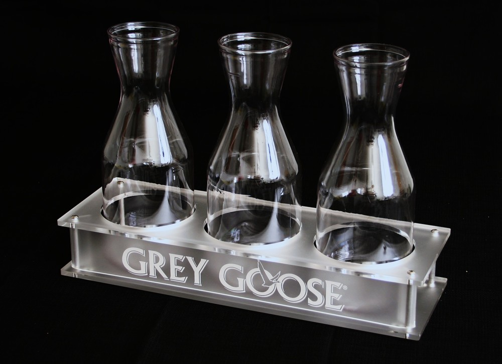 Grey Goose Carafe Set of 3 Frosted Acrylic.JPG