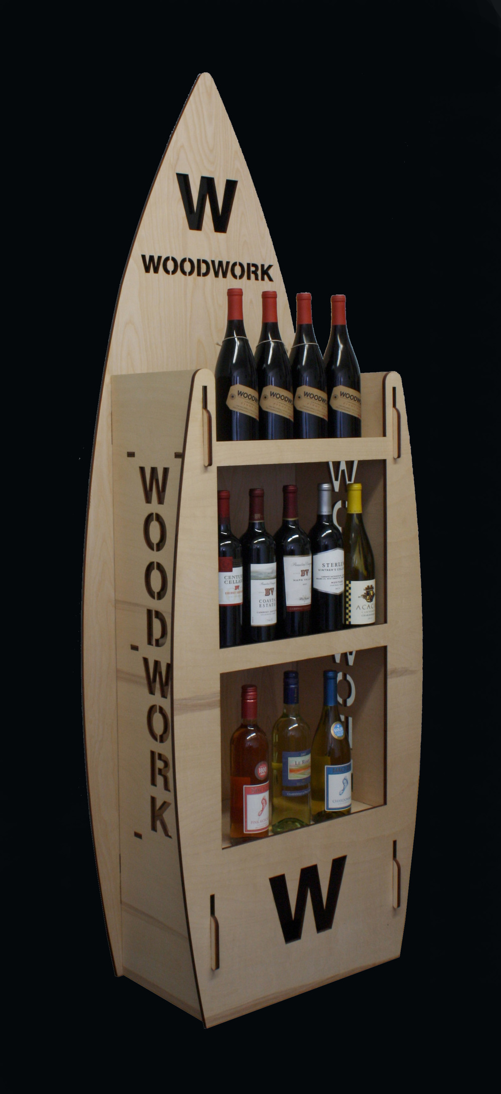 Woodwork WIne 3 Shelf Display.jpg