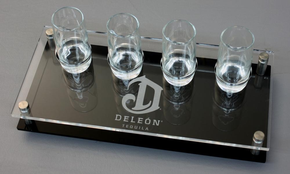 DeLeon 4G Flight Clear Acrylic on Black Laser Etched Logo.JPG