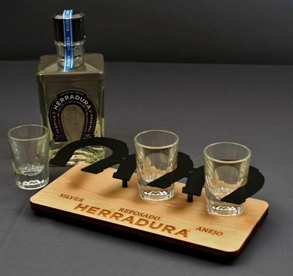 Herradura Flight Tray 3G Shot Steel on Wood.JPG